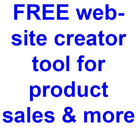 Click here for more details on, FREE  Website creator for product sales