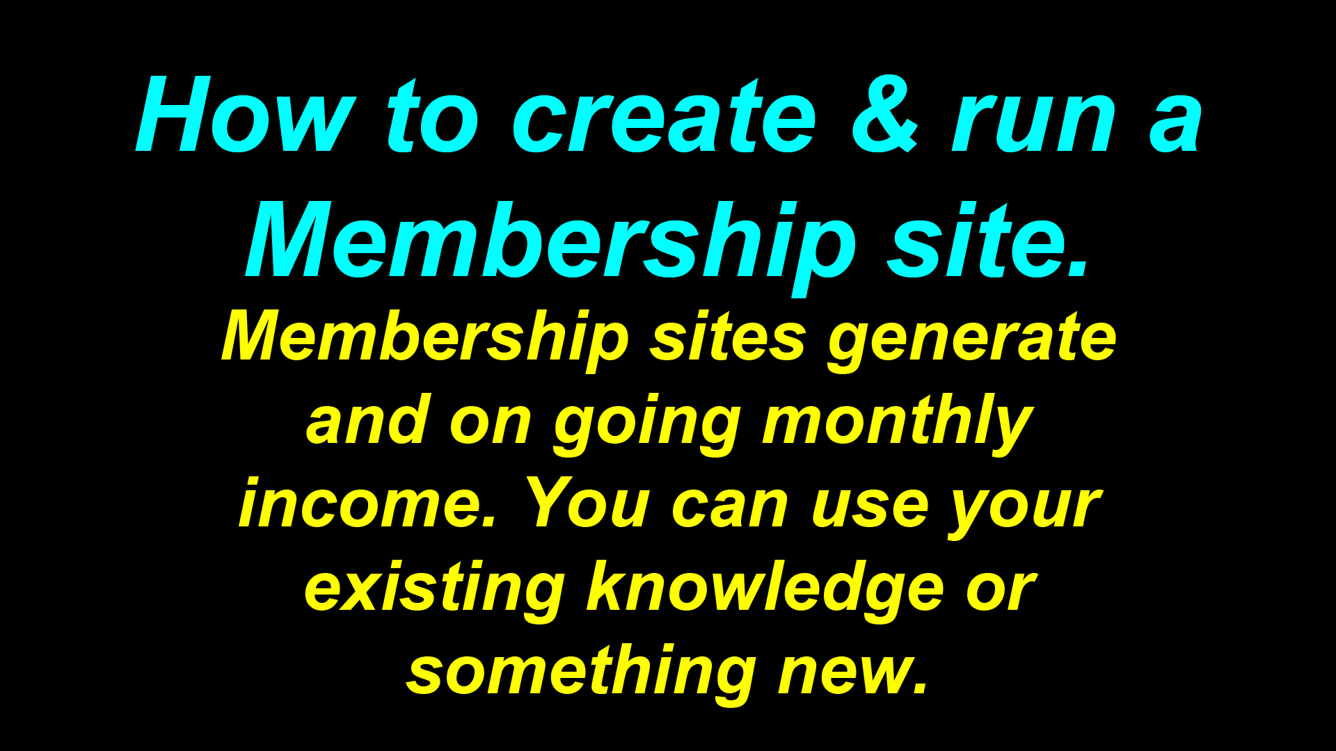 How to create and run a membership site